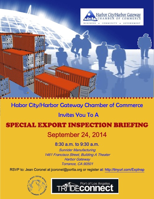 Special Community Release Export Inspection Briefing