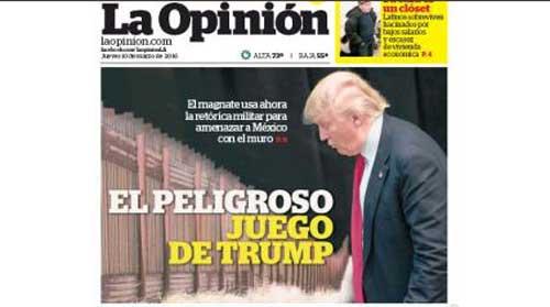 La Opinion Warns 'Against Trump'