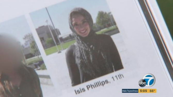 Muslim Calif. High School Student Misidentified as 'Isis Phillips' in Yearbook