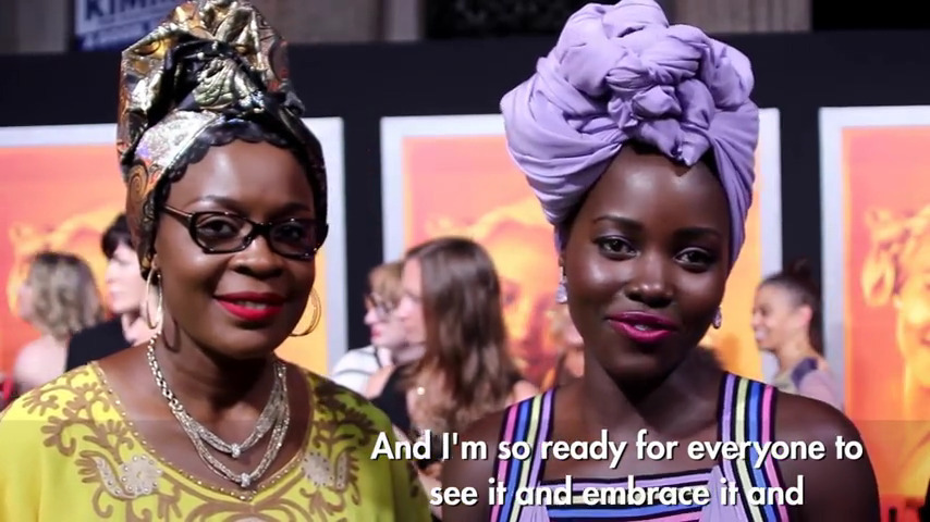 Lupita Nyong'o On Frank Talk: Queen Of Katwe Movie Premiere Red Carpet