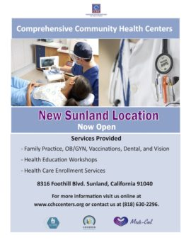 Comprehensive Community Health Centers, Inc. Open New Clinic In Sunland, California