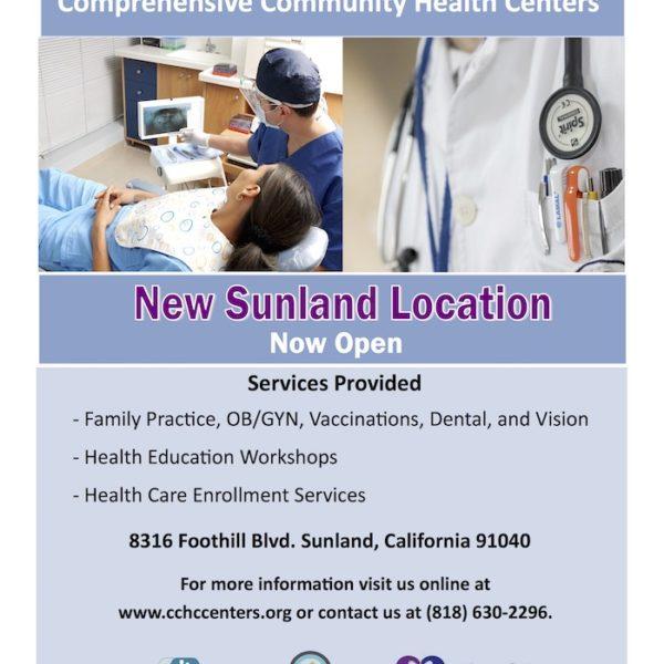Comprehensive Community Health Centers, Inc. Open New Clinic In Sunland, California