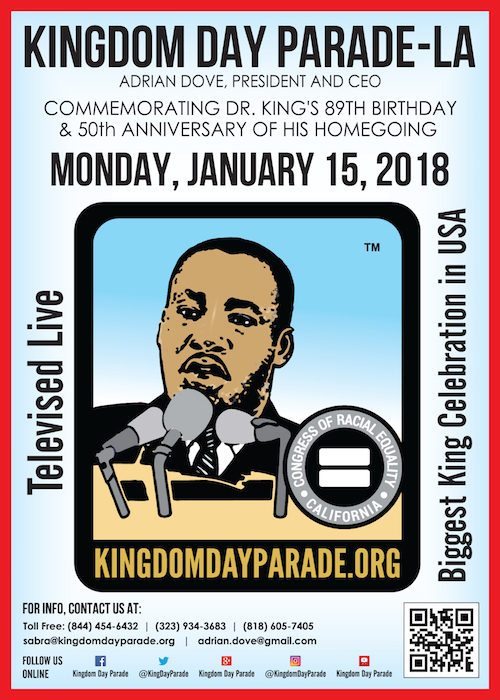 ABC 7 To Broadcast Live Martin Luther King, Jr. 33rd Annual KINGDOM DAY PARADE