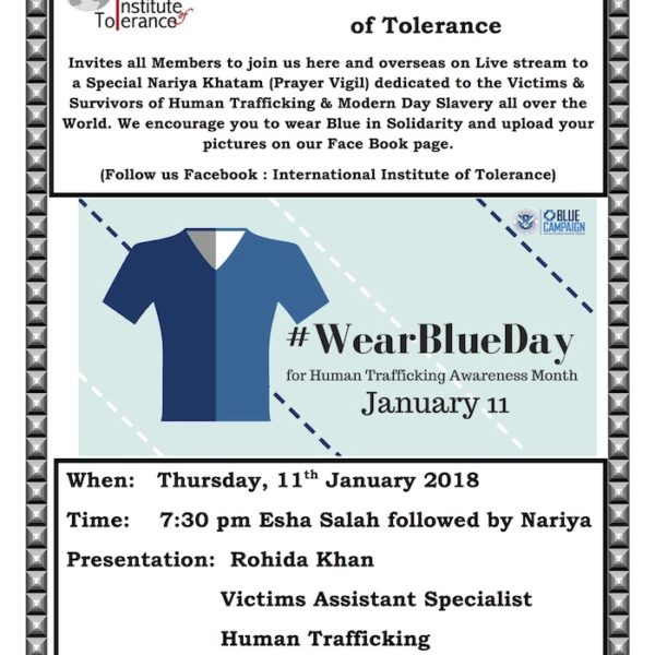 Let's Make a Difference: Wear Blue Campaign