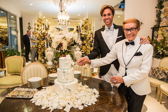 Wedding Bells Ring in Hollywood!Celebrity Hair Stylist Rafael de Marchena-Huyke and Fashion Expert Erik Putzbach Bori Tie the Knot
