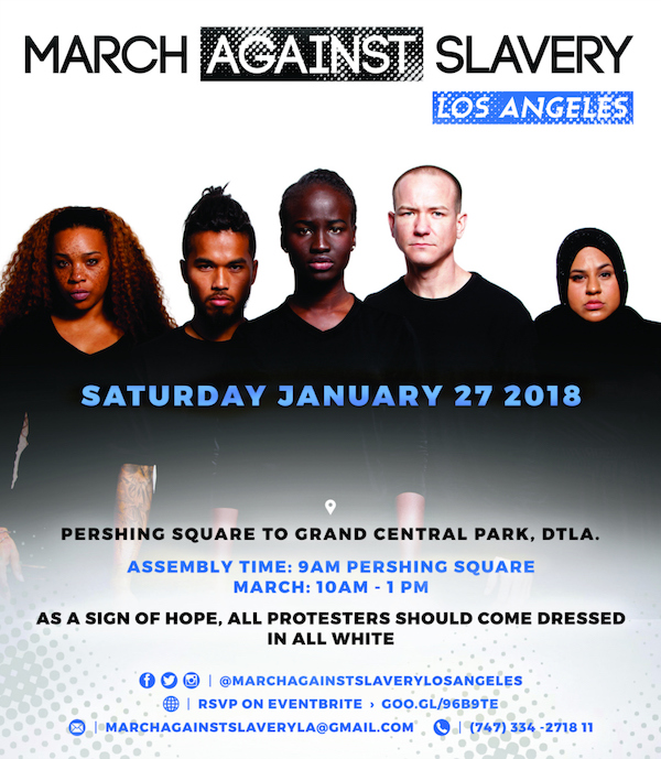 "the ""March Against Slavery in Libya and Beyond"""