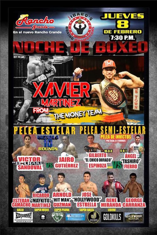 Mexico Fight Boxing Featuring Xavier Martinez From The Money Train