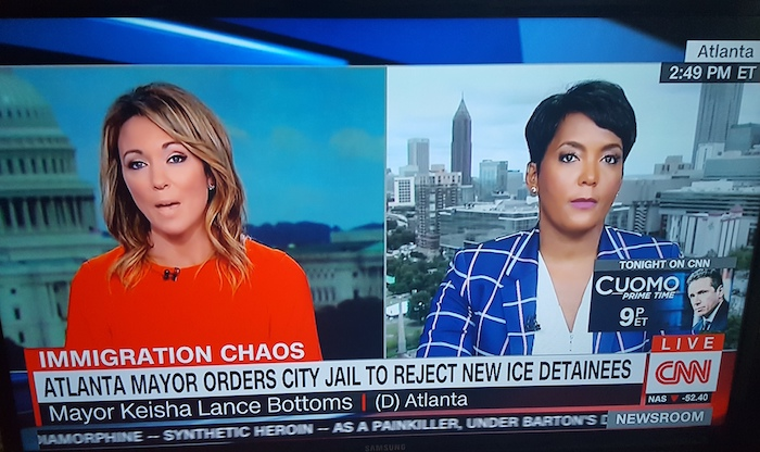 City Of Atlanta Mayor Keisha Lance Bottoms signs executive order blocking jail from accepting ICE detainees