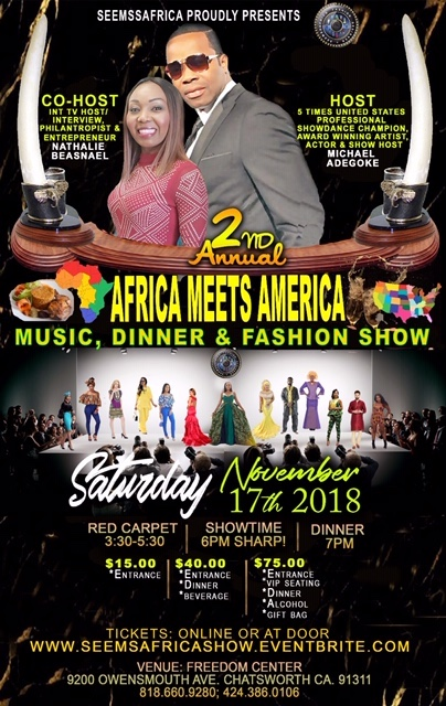 Africa Meets America, A Seemssafrica Fashion Show