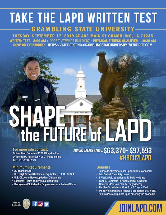 The Los Angeles Police Department, LAPD Hosts Hiring Seminar