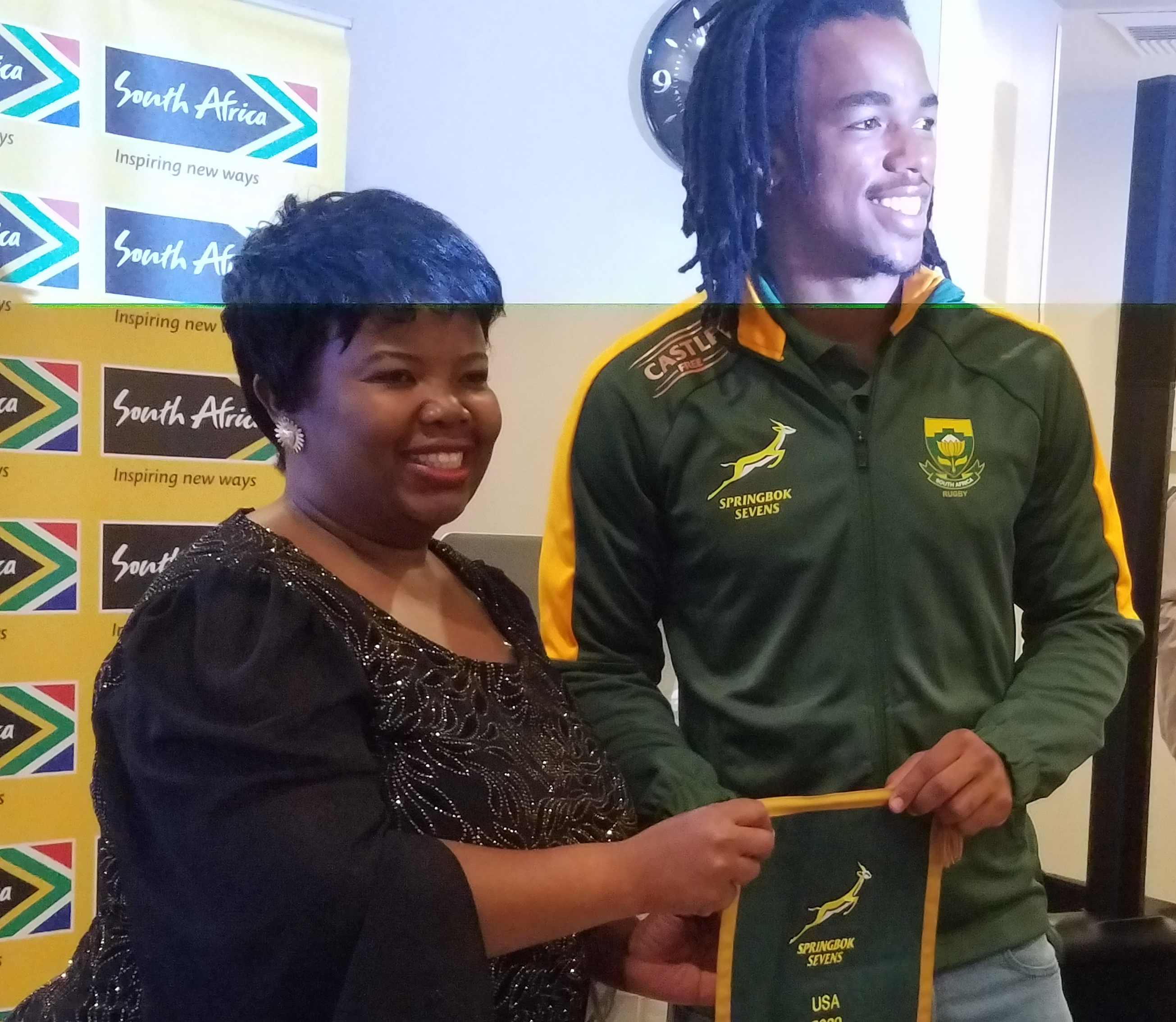 South African Consulate-General LA Receives World Rugby Champions, The Springboks