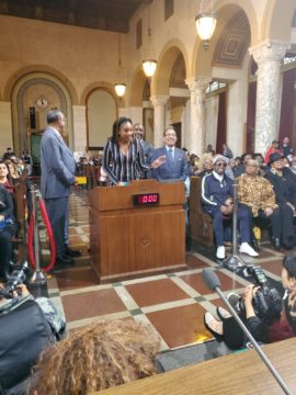 Tiffany Haddish, Eddie Griffin Honored at City Hall during Black History Month Celebration