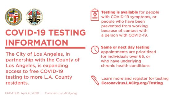 COVID-19 TestingInformation, Message From Councilmember Curren D Price Jr Of The New 9th District