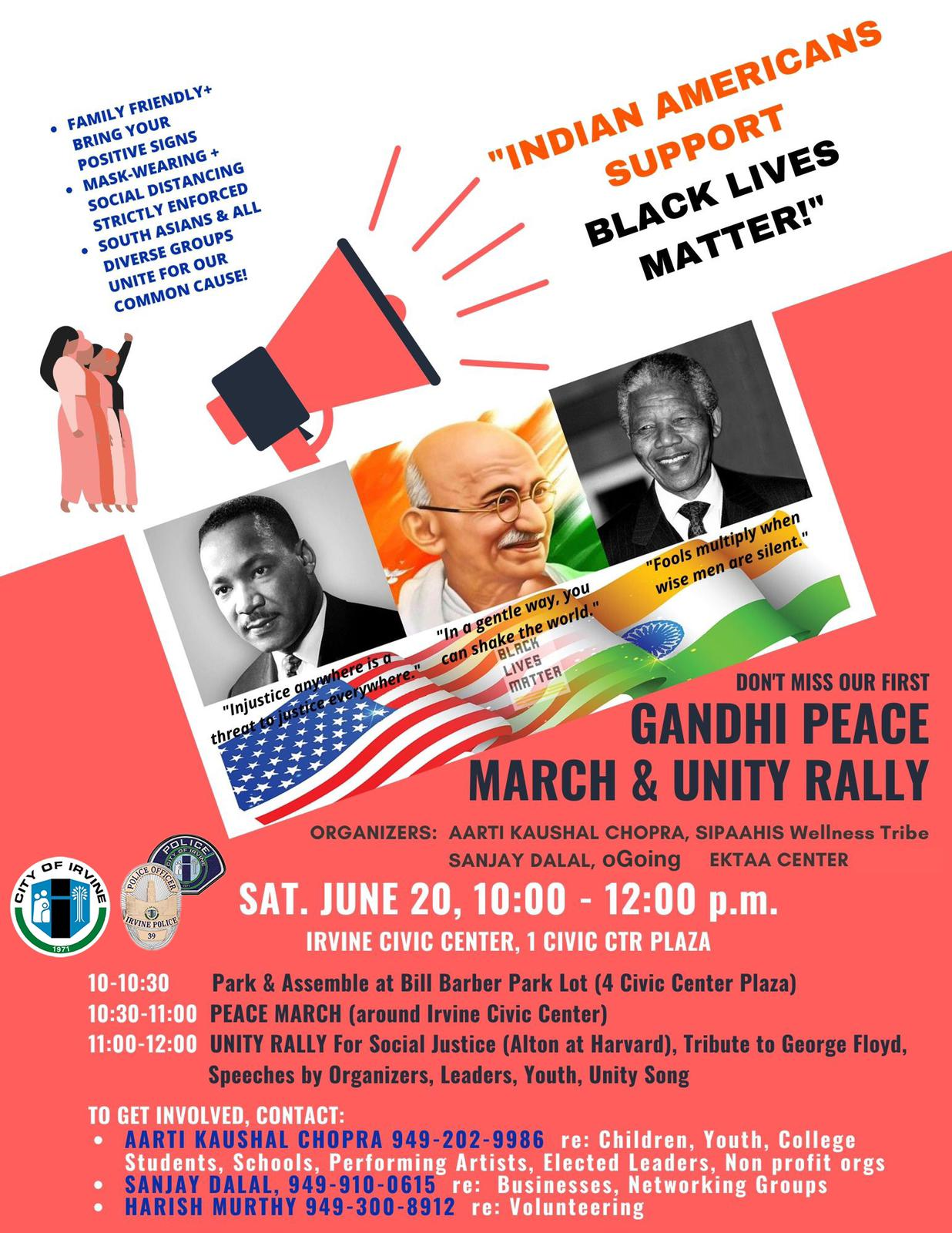 Gandhi Peace March And Unity Rally