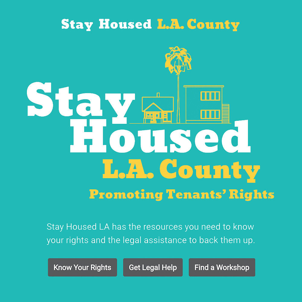 """LA County's Housing Crisis Addressed; Tenant Rights, Rent Stabilization and the """"Stay Housed LA"""" Initiative"""